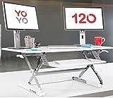 Yo-Yo DESK 120 (BLANCO) - Escritorio de pie ajustable en altura con mayor venta [120 cm de ancho].
