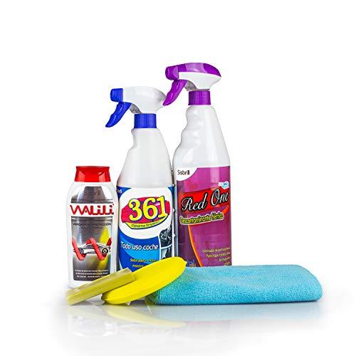 Sisbrill Kit Limpieza y Cuidado Pintura - Descontamina y Elimina todo tipo de Suciedad y Contaminación - Brillo más Potente