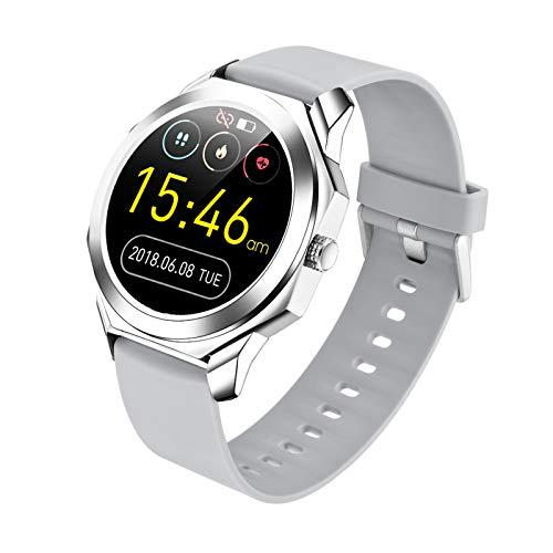 QFSLR Smartwatch, Reloj Inteligente Monitor De Actividades, IP68 con Pantalla Táctil De 1.28'', con Monitor De Frecuencia Cardíaca Control De Música Pulsera Actividad Inteligente,Blanco