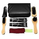 RanDal 7 In 1 Scarpe Polacco Strumenti Kit Boot Care Leather Craft Shine Pulizia Spazzole Set Strumento