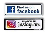 eSplanade Instagram Facebook Sign Sticker Decal (Instagram and Facebook Combo)
