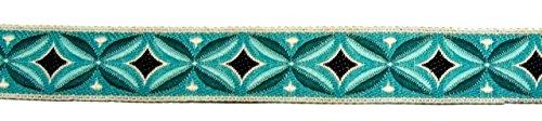 10m Indianer Retro-Borte Webband 16mm breit Farbe: Petrol-Türkis von 1A-Kurzwaren TH15-81-11
