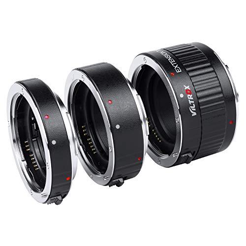 VILTROX DG-C Anelli Auto Focus Macro Tubi di Prolunga (12mm, 20mm, 36mm di Lunghezza) per Obiettivi Canon EF/EF-S e Fotocamera DSLR 5D2 5D3 5D4 6D 7D 70D 80D 700D 760D 1300D T7 T6i T5i