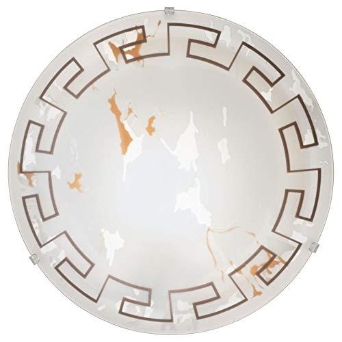 Deckenleuchte Deckenlampe & Deckenlicht Deckenleuchte antikes Design 395mm TWISTER E27 Glas-satiniert | 2-flammig