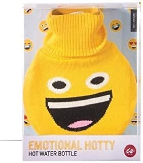 Emoji Hot Water Rubber Bottle with Cover Winter Warm
