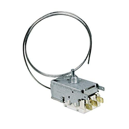 Thermostat Kühlschrank Kühl-Gefrierkombination Original Ranco K59-S1899/500 650mm Kapillarrohr 3x6,3mmAMP passend Whirlpool 481228238084 Indesit C00311858 Ersatz für Atea A13-0584H