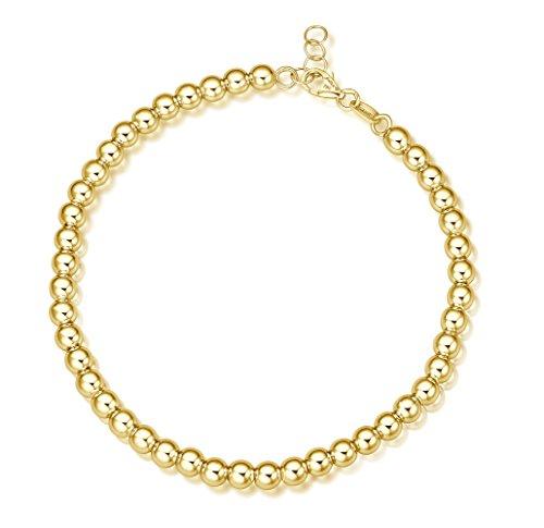 Juwelier Gelber Kugel Armband (Gelbgold, 4mm)
