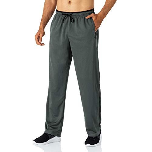 Butrends Jogginghose für Herren leichte schnell trocknende Herrenhose mit Reißverschlusstaschen Trainingshose mit elastischer Taille atmungsaktive Sporthose,Grau,EU-M