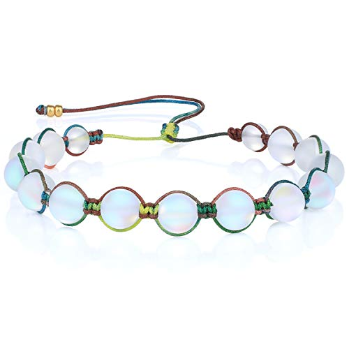 KANYEE Bracelets De Perles Lune Bracelet Rang Coloré Bracelets De Corde Faits à La Main pour Femmes – 23G