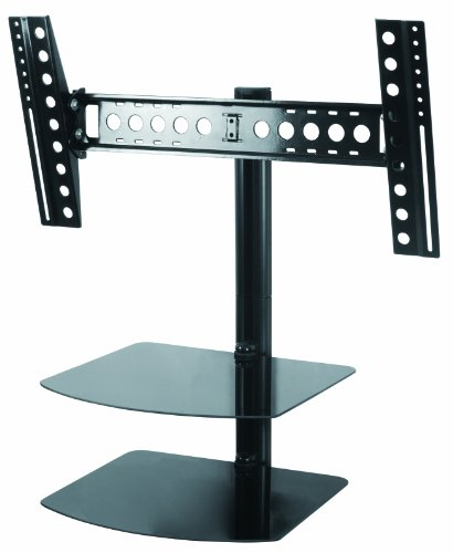 AVF ESL822B-T Tilt and Turn TV Mount with 2 AV Shelves, and Cable Management System for 37-Inch to 60-Inch TV - Black
