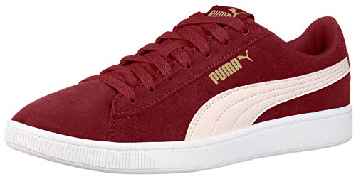 PUMA womens Vikky Sneaker, Fired Brick-pastel Parchment-puma Team Gold-puma White, 6 US