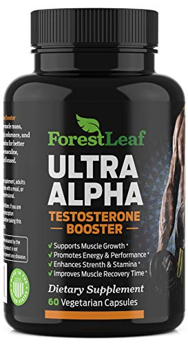 Men's Testosterone Booster (60 Capsules) MAX Strength - Boosts Muscle Growth & Recovery - Enhances Drive, Energy & Stamina - All Natural - by ForestLeaf