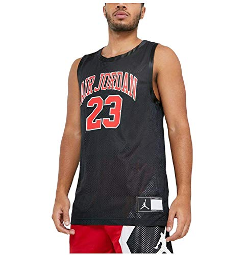 Nike Men's Jordan DNA Distorted Black Basketball Jersey CZ2499 010 (l)
