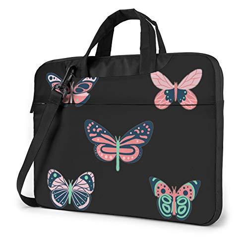 Miwaimao Co_Lorful Bu_Tterfly Llaptop Bag 15.6 Inch Briefcase Shoulder Bag Satchel Tablet Bussiness Carrying Handbag Laptop Sleeve