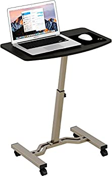 Height Adjustable Mobile Laptop Stand Desk Rolling Cart Height Adjustable from 28   to 33