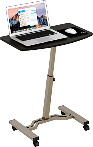 Height Adjustable Mobile Laptop Stand Desk Rolling Cart, Height...