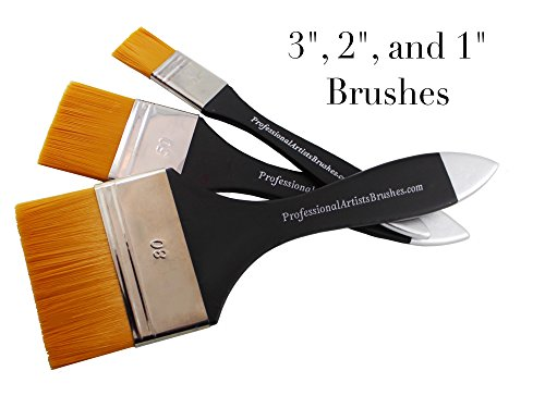 Square-Wash Art Paintbrushes