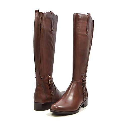 SoleMani Venetian Slim Calf Women's Leather Boot 13'-14' Calf Size Brown