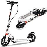 COSTWAY Scooter Roller Tretroller Cityroller klappbar höhenverstellbar mit 2 Räder Farbwahl (Weiß)
