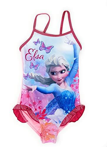 Die Eiskönigin - Frozen Mädchen Badeanzug Bademode (Pink, 6 Jahre (Größe 116))