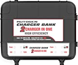 AUTOGEN 2-Bank Marine Battery Charger, 10-Amp (5-Amp Per Bank) Dual Battery Trickle Charger Maintainer, 6V & 12V Onboard Battery Charger And Battery Maintainer