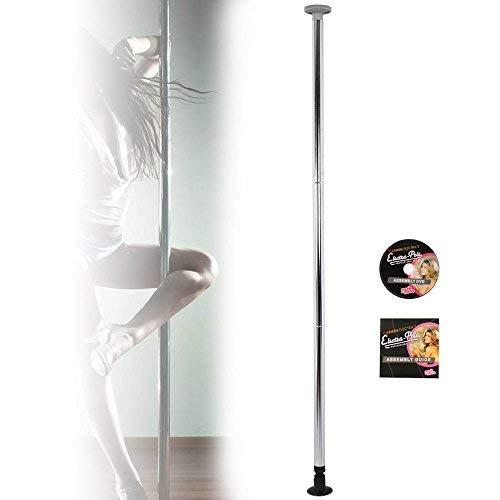 BuoQua 50mm Palo Pole Dance Palo Argento per Lap Dance in Acciaio Inox capacità 90kg Palo Fitness Portatile per Pole Dance