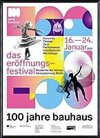 ポスター バウハウス 100 Jahre Bauhaus Festival 2019 white 額装品 アルミ製ハイグレードフレーム(ブラック)
