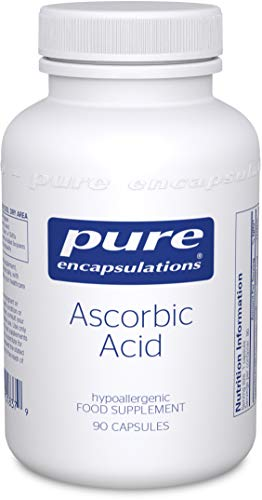 Pure Encapsulations - Ascorbic Acid Professional-Strength 1000mg - Hypoallergenic Vitamin C Supplement for Antioxidant Support - 90 Capsules