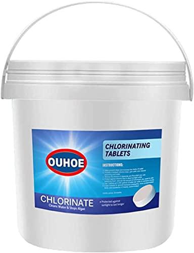 300Pcs Chlorine Tablets, Long Lasting Chlorinating Tablets for Swimming Pools, Swimming Pool Tablet Tablets Chlorine (300pcs-01)