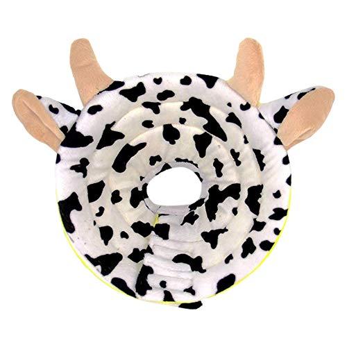 MIGOGO エリザベスカラー 猫用 犬用 ペット用品 牛 傷舐め防止 去勢手術 保護首輪 ストレス軽減 猫用カラー 引っ掻き防止 柔らかい 可愛い 軽量 通気