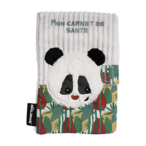 LES DEGLINGOS - Protège Carnet de Santé - Rototos Le Panda - Bébé et Enfant - Peluche - Ultra Doux - Ludique- Cadeau de Naissance
