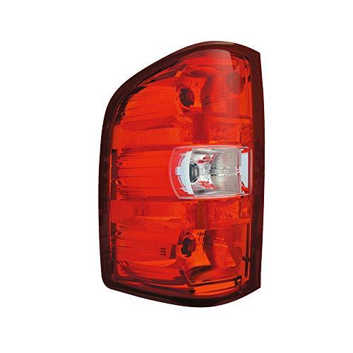 Epic Lighting OE Fitment Replacement Rear Brake Tail Light Assembly for 2007-2014 Chevrolet GMC Silverado Silverado Hybrid Sierra [GM2800207 25877454] Left Driver Side LH