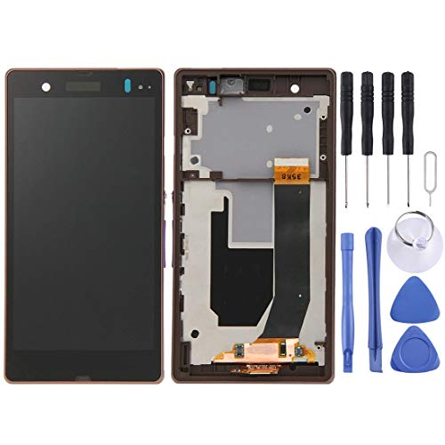 LPYHC Display-LCD + Touch Panel con Marco for Sony Xperia Z / L36H / C6603 / C6602 (Negro) Cambio (Color : Purple)
