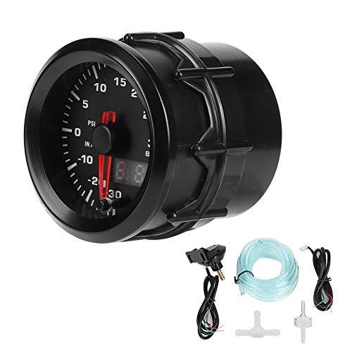 Auto Turbo Ladedruckanzeige, 52mm Universal Öldruckprüfer Turbo Ladedruckanzeige Turbometer Auto Ladedruckanzeige Digital Motorrad Werkzeuge Diagnose Test Messwerkzeuge Turbolader Manometer Instrument