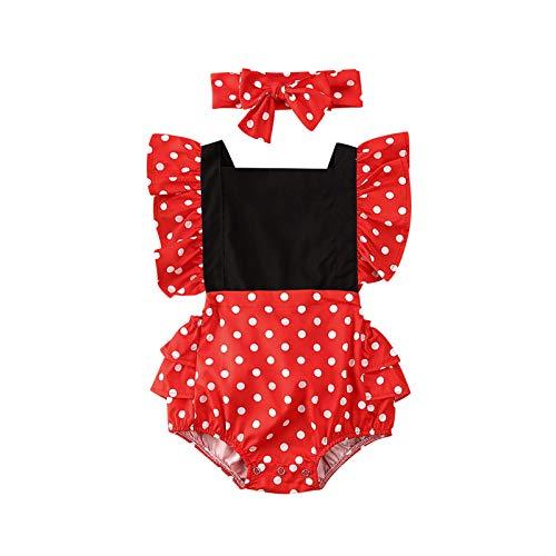 Carolilly Conjunto de pijama para bebé niña de una sola pieza para recién nacido