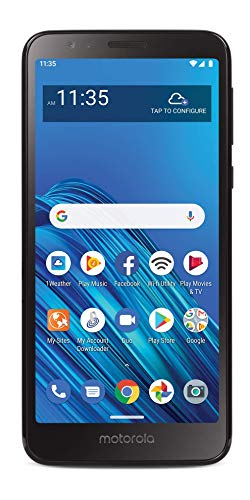 Tracfone Motorola Moto E6 4G LTE Prepaid Smartphone (Locked) - Black - 16GB - Sim Card Included - CDMA