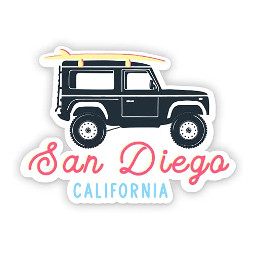 "Squiddy San Diego CA - Vinyl Sticker Decal for Phone, Laptop, Water Bottle (3"" Wide)"