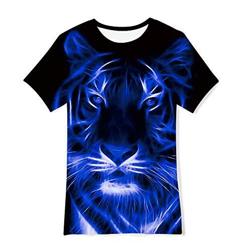 NEWISTAR T-Shirt Jungen 13-14 Jahre 3D Grafik Freizeit kurzärm Rundhalsausschnitt T-Shirts für Sommer Täglich Ferien
