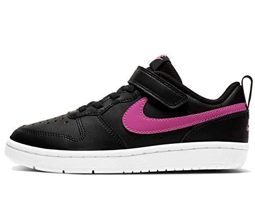 Nike BQ5451-003, Tennis Shoe, Black/Active Fuchsia-White, 34 EU