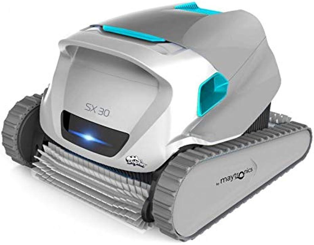 Dolphin robot pulitore maytronics sx 30 per piscine, pulizia fondo, pareti e linea di galleggiamento MAY-200-0192