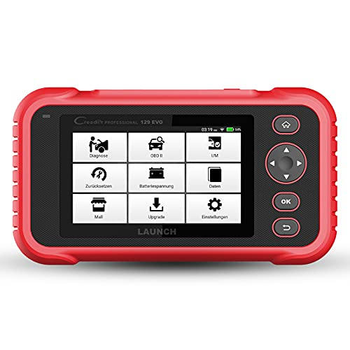 LAUNCH Europe CRP 129 EVO OBD2 Diagnosegerät Auto Auslesegerät Kfz-Diagnose EOBD Tester 4 Systemen Motor, ABS, SRS, Automatik Getriebe + 7 Service Funktionen mit Touchscreen WiFi Update / Android