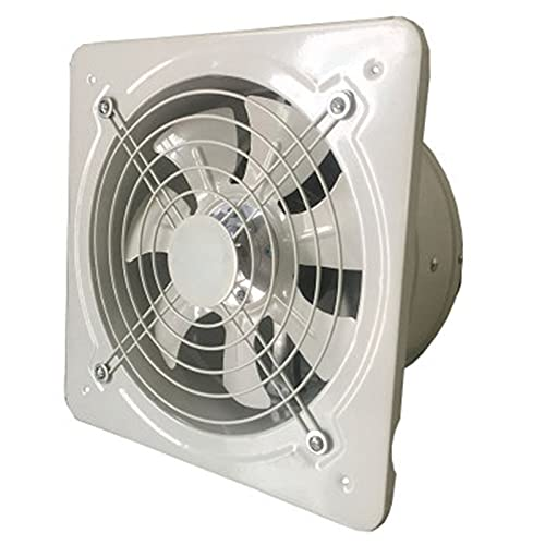 SHUTING2020 Garage Exhaust Fan Industrial Ventilation Extractor Metal Axial Exhaust Commercial Air Blower Fan with Grille and Check Valve Low Noise Stable Running, White Ventilation Fan