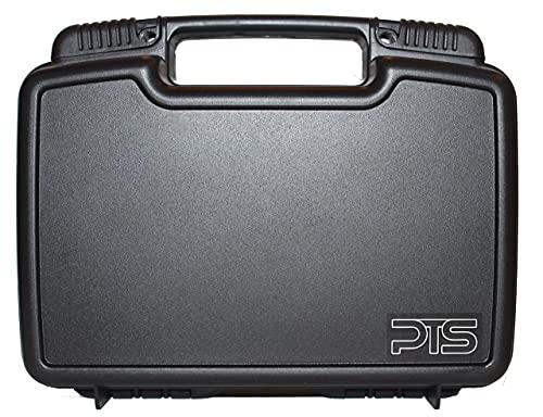 Single Pistol Case - Premium Hard Plastic Gun Cases - Fits Full Size Handgun - Great for TSA