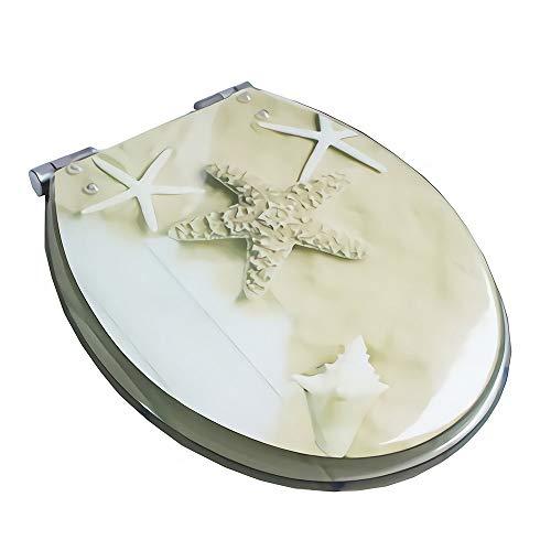 toilet lid Bisagras de Acero Inoxidable Ajustables de Resina antibacteriana de liberación rápida de Cierre Lento Suave Fijación Superior/Inferior para Forma U/V/O