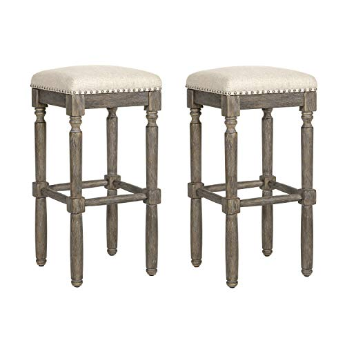 Ball amp Cast Kitchen Pub Height Bar Stool Barstool2Pack Taupe