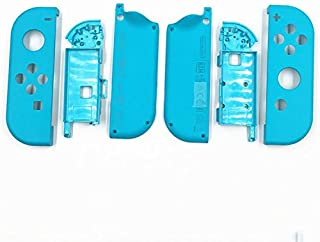 Replacement Hard Housing Shell Skin Case Cover Inner Frame for Nintendo Switch NS Joy-Con Controller Blue Case +Frame