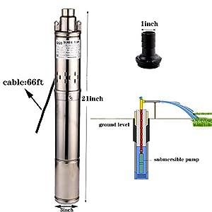 SHYLIYU Bomba para Pozo Sumergible Bomba de Pozo Profundo Bomba de Pozo Bomba de Perforación para Industrial y Doméstico…