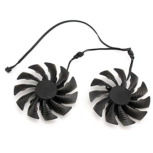 iHaospace Replacement Graphics Card Cooling Fan for GIGABYTE RX Vega 56 RX Vega 64 Dual Cooler Fan
