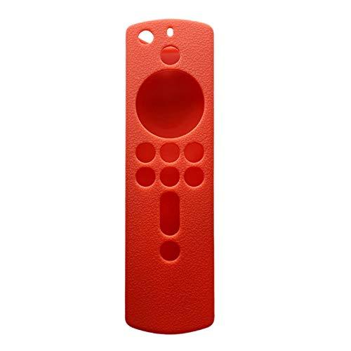 Kaxofang Funda Protectora 5.9 Pulgadas Funda de Silicona Reemplazo Antideslizante una Prueba de Golpes para Amazon Fire TV Stick 4K Rojo