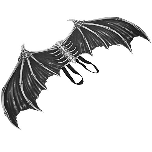 Cosplay Halloween Devil Wings, Halloween Bat Wings, Adolescentes Para Niños(Alas de hueso negro HGDS19001B)